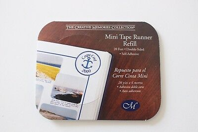 NEW Creative Memories Tape Runner MINI Refill Double Sided Adhesive - 20ft