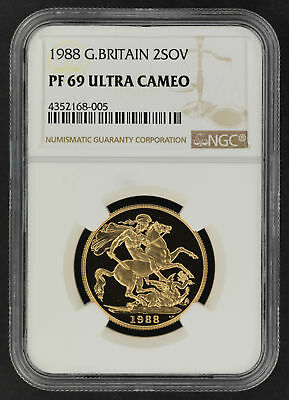 1988 Great Britain Gold 2 Sovereign NGC PF-69 Ultra Cameo -164636