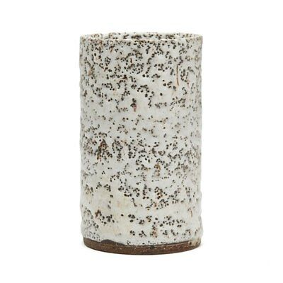 Lucie Rie Stoneware Vase Studio Pottery With Pitted Glazes
