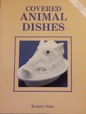 COVERED ANIMAL GLASS DISH VALUE GUIDE COLLECTOR'S BOOK Hen Swan Duck Rabbit Lion