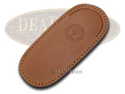 BOKER TREE BRAND Premium Brown Leather Pouch Sheath for Boy Scout Knife