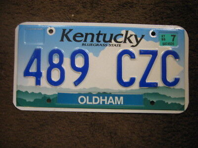 1999 Kentucky License Plate - Oldham  County