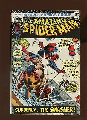 Amazing Spider-Man 116 FN+ 6.5 * 1 Book Lot * Suddenly Smasher! by Lee & Romita!
