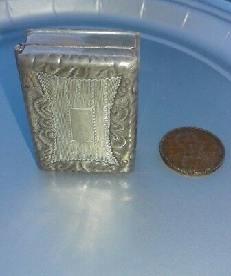 Sterling Silver pill/snuff box. Stamped shaped like a book!
