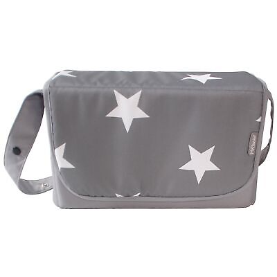 My Babiie Baby Changing Bag / Mat For Stroller / Pram / Pushchair - Grey Stars