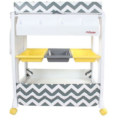 My Babiie Baby Built In Bath and Changing Unit - Chevron