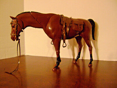 Vintage Marx Best of the West Nodding Horse with tack and saddle 1/6 scale used
