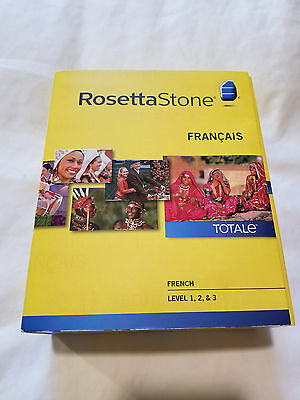 Rosetta Stone French Level 1-2-3 brand new including Headset