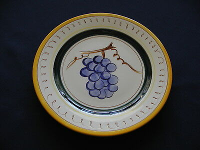 8 1/8 inch Grapes Salad Plate in Fruit (Yellow Trim) by STANGL