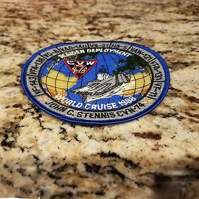 Uss John C Stennis Cvn- 74 Cvw-7 1998 Maiden World Cruise Deployment Patch
