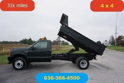 2001 Ford F550 V10 4wd 31k miles one owner clean Used dump low miles nice