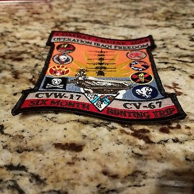 "Uss John F Kennedy Cv-67 ""oif"" Cvw-17 2004 Final Deployment Cruise Patch"
