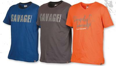 SAVAGE GEAR Simply SAVAGE tee blue / Grey / ORANGE S -xxxl T-shirt T-shirt
