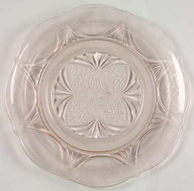 Hazel Atlas ROYAL LACE PINK Luncheon Plate 1241556