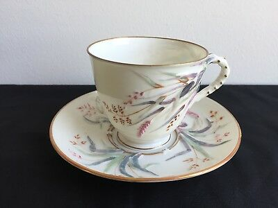 FINE IRISH BELLEEK GRASS CUP SAUCER/2nd BLACK MARK
