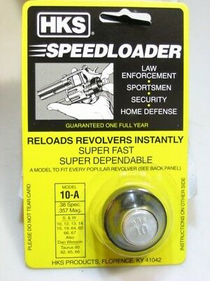 10-A HKS Speed Loader for S&W 38/357 K Frame 10 13 15 19 64 66 TAURUS 80 82 65 &