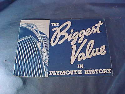 1936 PLYMOUTH AUTOMOBILE Illustrated ADVERTISING BROCHURE