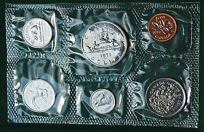 1976 Canada Prooflike PL set - 6 perfect coins in org packaging and certificate