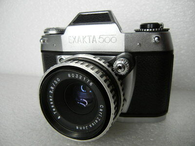 Exakta 500 Ihagee Slr Camera Tessar 50Mm F2.8 Lens East Germany