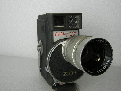 Cine 8Mm Movie Turret Camera Mansfield Holiday Zoom Lens F1.8 Lens Runs Japan