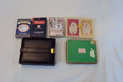 Vtg Mixed Lot of 9 Decks Playing Cards some Sealed NEW