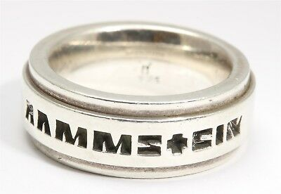RAMMSTEIN Official Band Logo SOLID Sterling Silver Wide Band Ring Sz9.5 20g 925