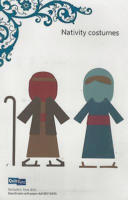 QuicKutz NATIVITY COSTUMES Revolution REV 0075 4X4 New NIP Cuttlebug Sizzix XMAS