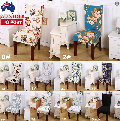 AU 1/4/6/8 Chair Cover Party Room Seat Dining Cover Slipcover Banquet Stretch