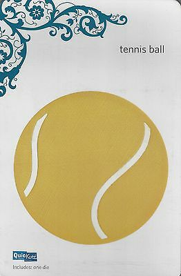 QuicKutz TENNIS BALL Revolution REV 0098 4X4 New in Package NIP Cuttlebug Sizzix