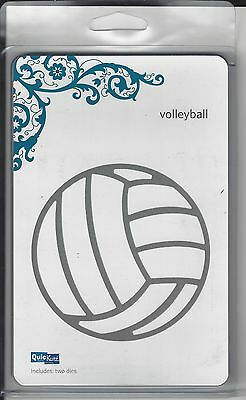 QuicKutz VOLLEYBALL Revolution REV 0099 4X4 New in Package NIP Cuttlebug Sizzix