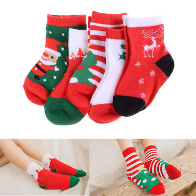New Year Xmas Gift Kid Christmas Stockings Cotton Socks For Baby Kids