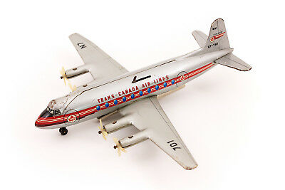 Vintage Biller Germany Trans-Canada Airlines Viscount 701 Tin Lever Airplane
