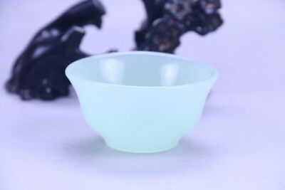 100% natural Exquisite hand carving Jade bowl x157