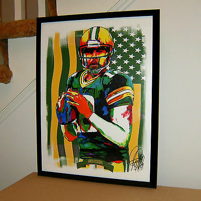 Aaron Rodgers, Green Bay Packers, Quarterback, Football, Sports, 18x24 POSTER 1