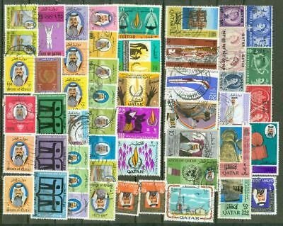 Qatar Group of 50 Postal used stamp Lot#4466   gtc