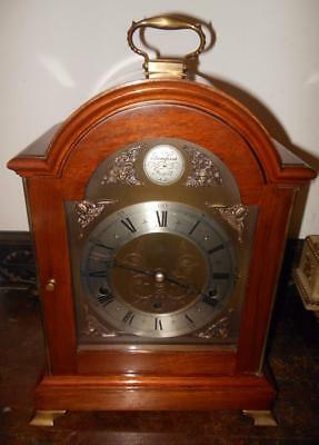 walnut cased elliot westminster whittington bracket clock