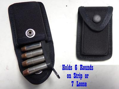 RJZ G&G Firm Nylon Gun Ammo Cartridge Case Pouch 38/357 Hold 6 On Strip 7 Loose