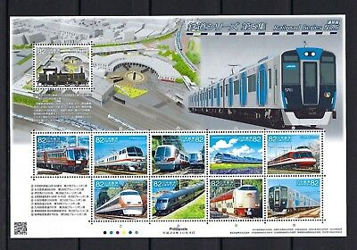 JAPAN 2017 Railroad Train Series 5 No 1  Stamp Mini S/S