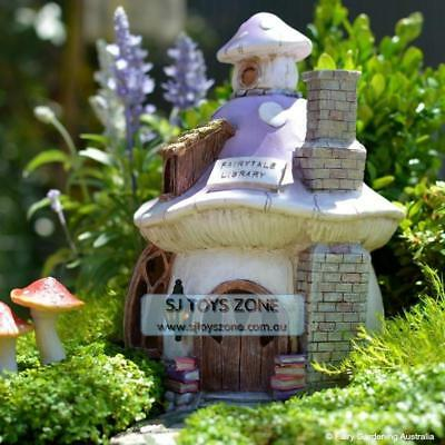Fairytale Library Fairy Solar House Elf Goblin Light Up Home Outdoor Garden Deco