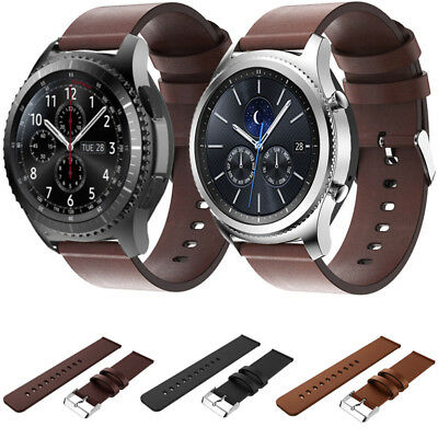 Genuine Leather Watch Strap Wrist Band For Samsung Gear S3 Frontier/Classic Gift