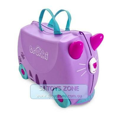 Trunki Ride On Suitcase Purple Cassie Cat Fun Little Kids Children Luggage Toy