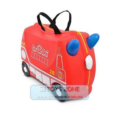 Trunki Ride on Travel Suitcase Color Red Kids Luggage Toy - Fire Engine Frank