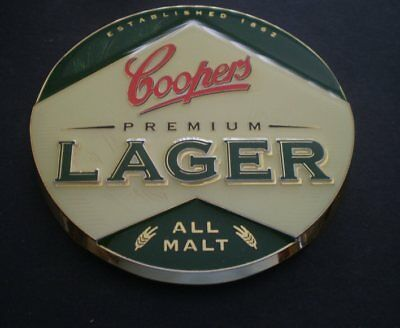 Australian METAL  tap top badge - Unused  -  Coopers Lager  - FREE POST
