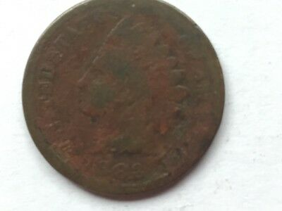 "1883 ""Indian Head"" US one cent coin.  134 years old."