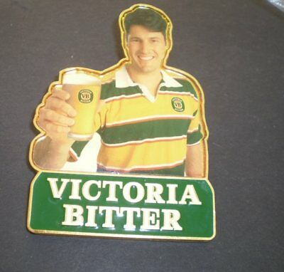 Australian METAL  tap top badge - Unused  -Victoria Bitter - Rugby  - FREE POST
