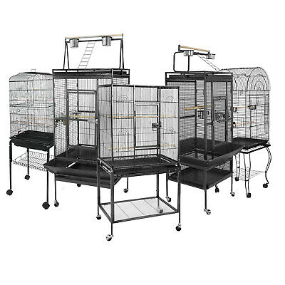 "53"" 61"" 68"" Large Bird Iron Cage Play Top Parrot Macaw Cage Pet Supplies W/ Door"