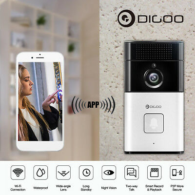 Digoo Kit Videocitofono Hd 720P P2P Wifi Wireless Telecamera Ir Connetti Con App