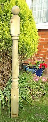 Turned Colonial Treated Decking Newel Post 82mm x 1200mm