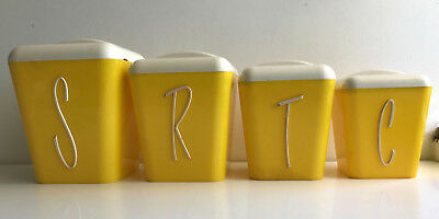 GAY WARE canister set of 4 GayWare retro vintage the tallest is about 15.8yellow