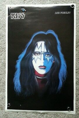 Kiss Ace Frehley solo poster. .rare and vintage aucoin